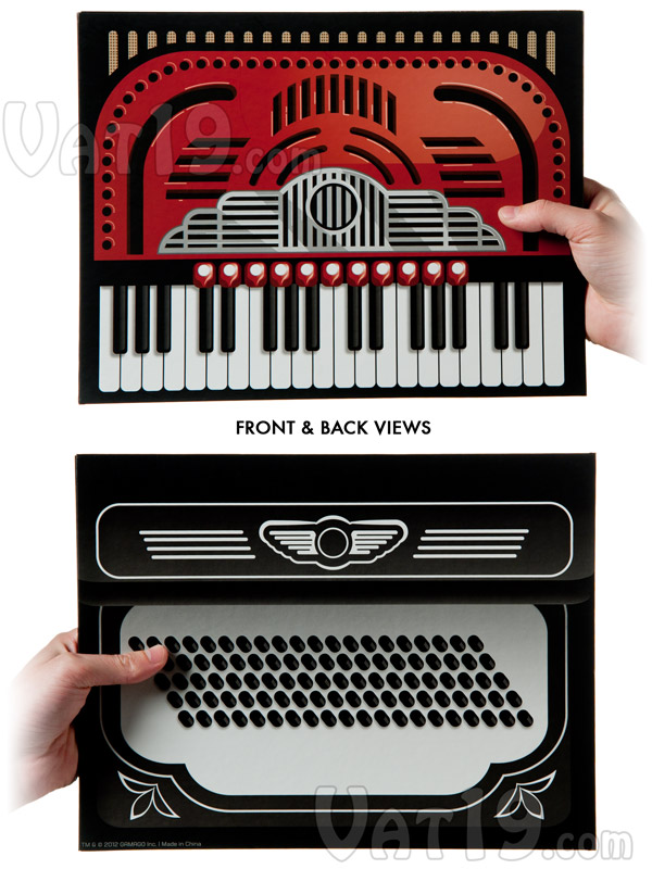 Front and back views of the Accordion File Folder.