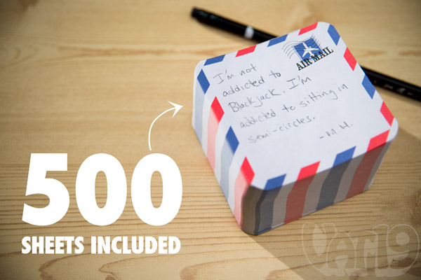 Each Airmail Notepad Launcher includes 500 sheets.