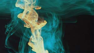 Wispy smoke makes for a very relaxing dvd experience.