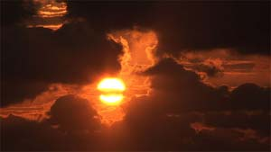 Sunrise over the ocean. DVD has 14 scenes.