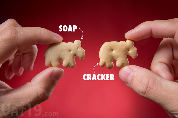 Animal Cracker Soaps look identical to the real thing.