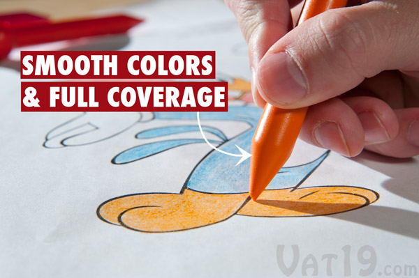 Animal Crayons feature full coverage and smooth coloring.