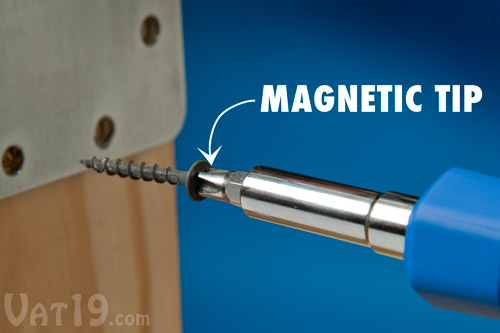 The six industrial strength bits included with every AutoLoader are magnetic.