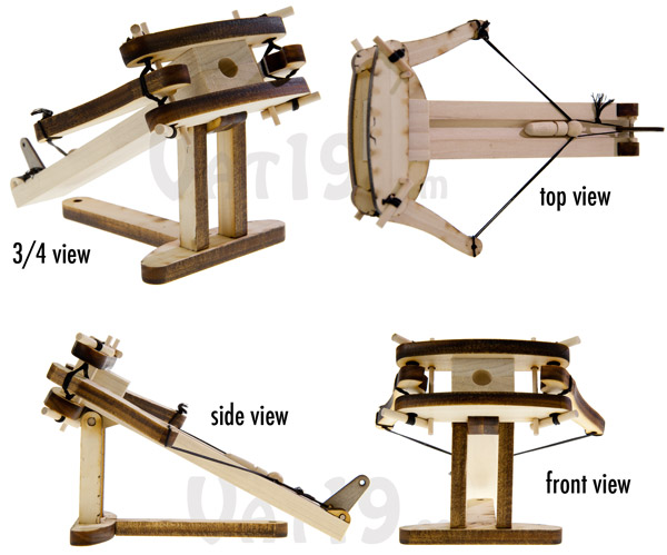 Multiple angles of the build your own Ballista Kit.