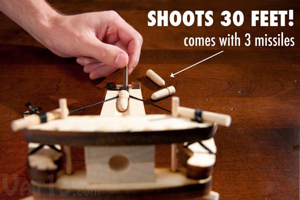 The DIY Ballista Kit shoots small ammunition up to 30 feet.