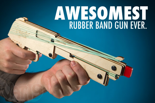 Bandit Gun is the coolest rubber band gun.