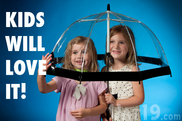 The children's Birdcage Umbrella is sure to be a hit with the kids.