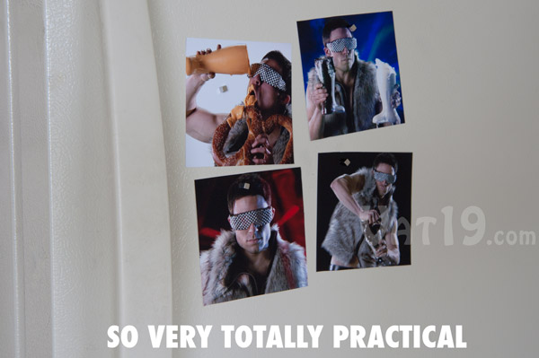 You can also use BuckyCubes for practical purposes such as hanging pictures on your fridge.