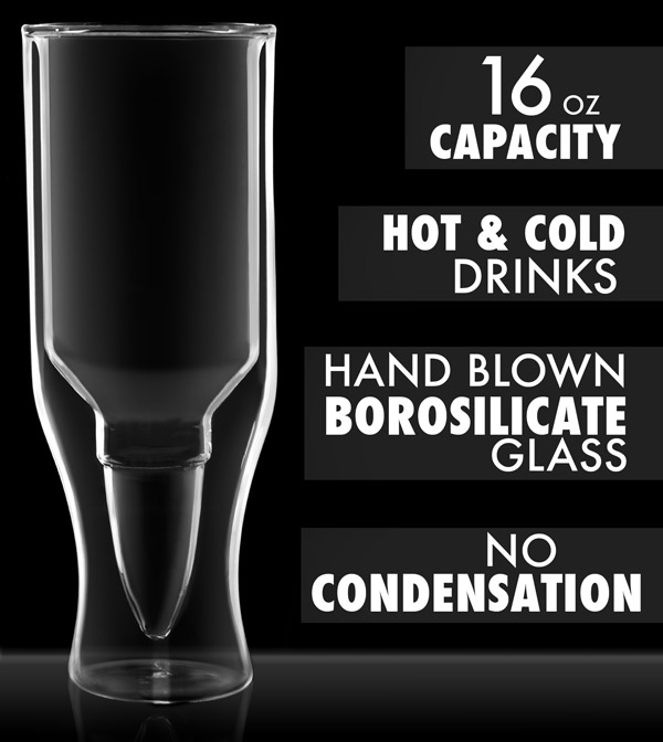 Features of the .50 Caliber Beer Glass.