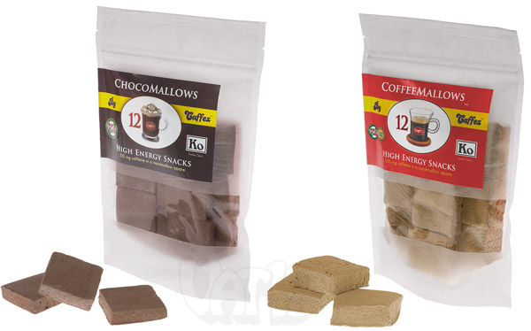 Caffex Caffeinated Marshmallows are available in several flavors.