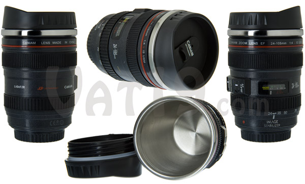 Multiple views of the Camera Lens Mug
