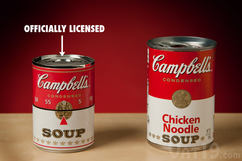 The Campbell's Soup Kitchen Timer is officially licensed.