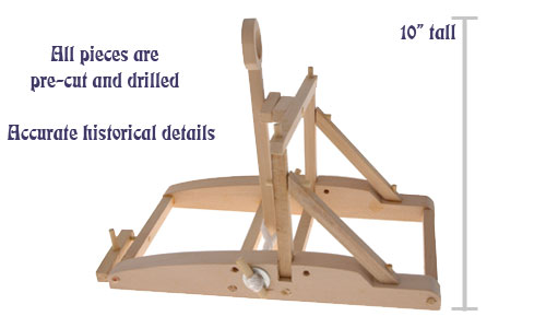 simple catapult design. Easy to assemble.