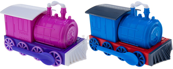 Chew-Chew Trains are available in two color styles.