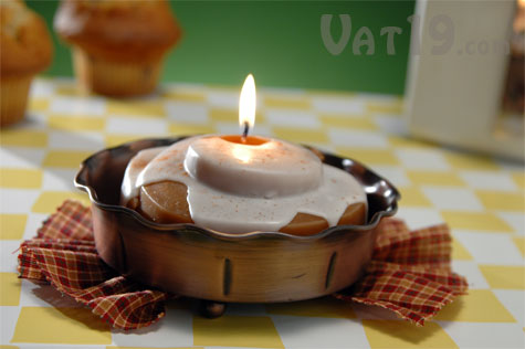 The Cinnamon Roll Candle smells just like a fresh-baked cinnamon bun.