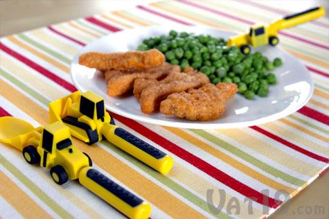 Constructive Eating Utensils for kids make dinner a blast!