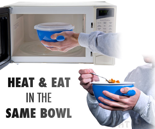 Eat piping hot foods straight from the microwave with the Cool Touch Microwave Bowl.
