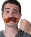 Gummy Mustache on a Stick