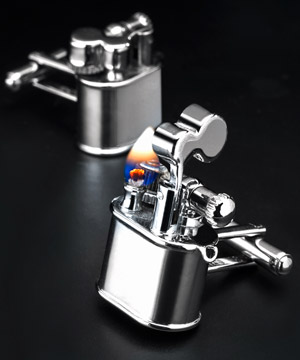 Chrome Lighter Cufflinks