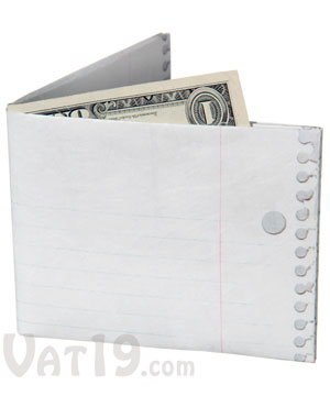 mighty recyclable wallets The mighty wallet is tear-resistant, water-resistant, expandable and recyclable made from tyvek (think express mail envelopes), these cool wallets resist tearing because of thousands of interlocking plastic fibers spun in random patterns, giving them incredible strength.