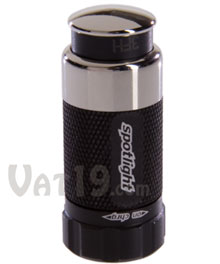Black Spotlight Miniature Rechargeable LED Vehicle Flashlight
