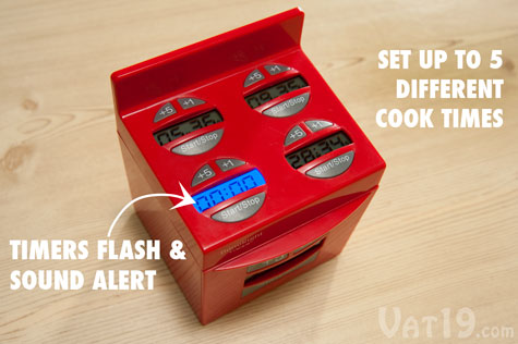 Set up to 5 timers with the DoneRight Multiple Kitchen Timer