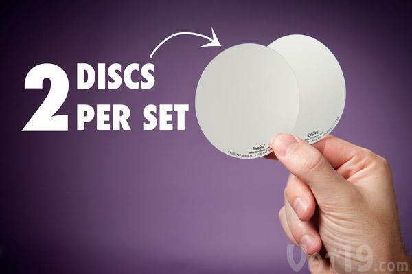 Each set of Drop Stop Pour Spouts includes two reusable and food safe discs.