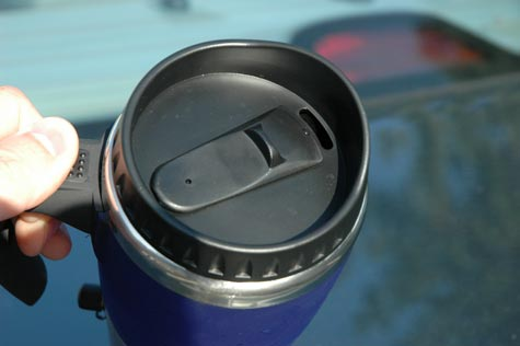 Thumb slide for your Heated Travel Mug