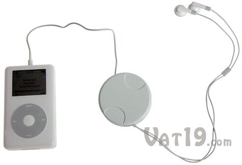 EarPod earbud holder can shorten your earphone cable