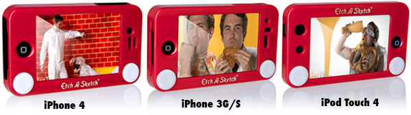 Choose from the Etch-a-Sketch iPhone 4 case, iPhone 3G/S, or iPod Touch 4 case.