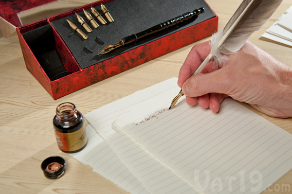 The Feather Pen Set lets you write like ancient scholars.