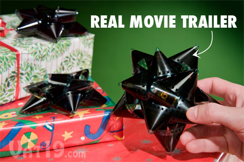 Adorn presents with these gift bows made from actual film reels.