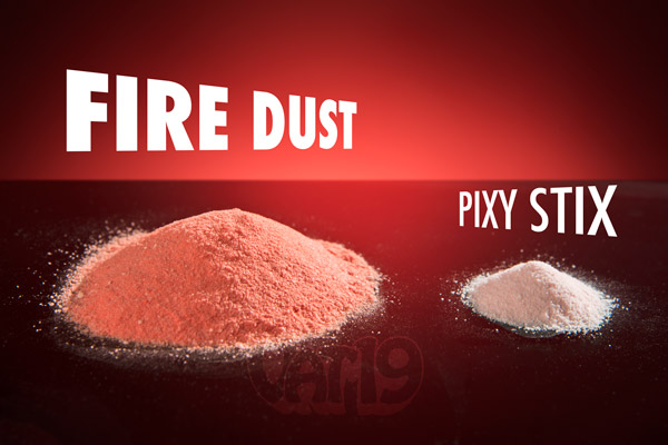 Each tube of Fire Dust includes 23.5 oz of deliciously sweet powder.
