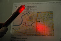 The Flameless safety flare doubles as a map light