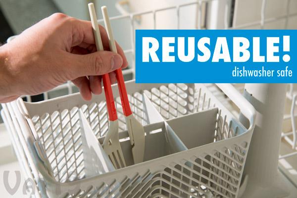 Fork and Knife Chopsticks are dishwasher safe.