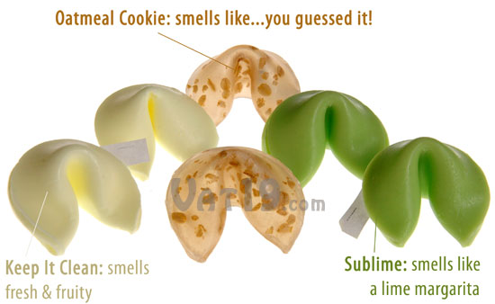 Fortune Cookie Soap Set includes six soaps in three scents