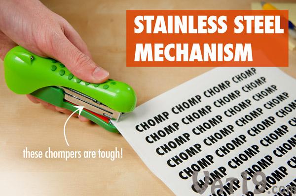 Gator Stapler features a stainless steel mechanism