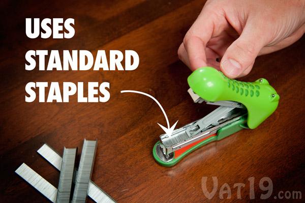 Gator Stapler uses standard staples