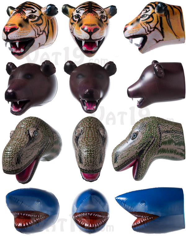 Choose from a wide variety of jumbo inflatable animal heads.