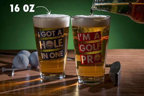 Golf Beer Pint Glasses