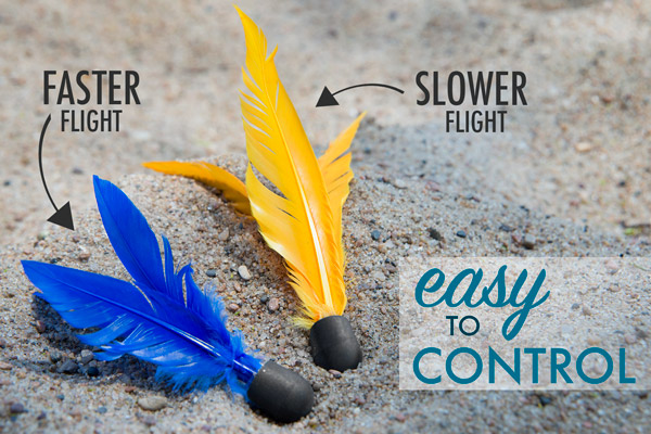 Goodminton includes two styles of birdies: fast and slow.