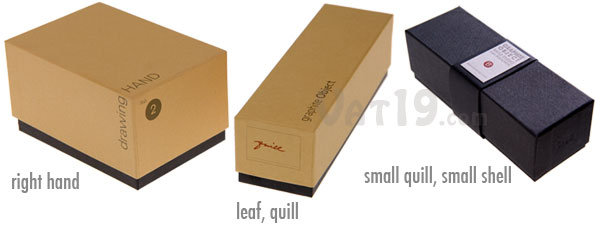 Graphite Objects Gift Box protects each graphite writing utensil.