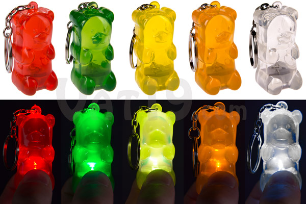Choose from a wide variety of colors of Gummy Bear Keychains.
