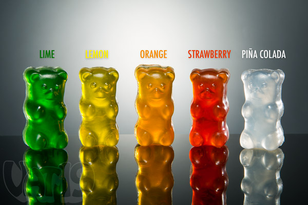 Gummy Bear Soaps are available in a variety of sweet-smelling scents and colors.