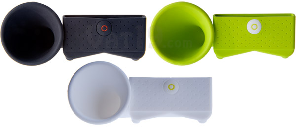 The iPhone Horn Stand is available in several colors.