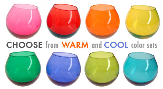 Hula Wobbling Tumblers are available in two color tones