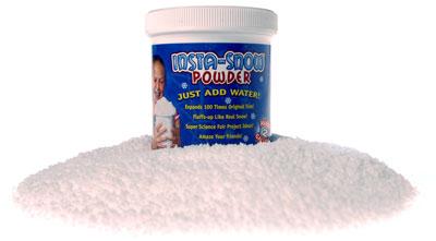 Insta Snow Powder creates fake snow