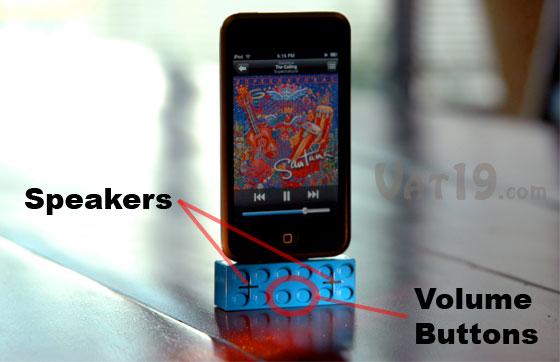 iPod Portable Speakers look like Lego building blocks