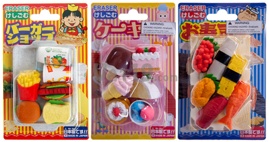 Japanese Food Erasers Packaging