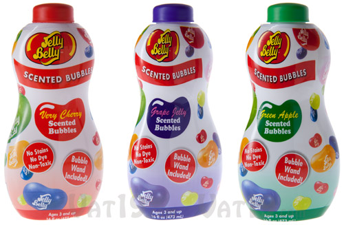Jelly Belly Scented Bubbles are available in a variety of scents.